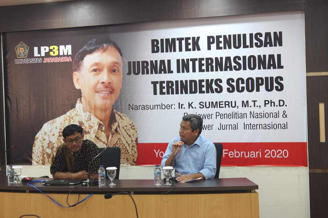 BIMTEK PENULISAN JURNAL INTERNASIONAL TERINDEKS SCOPUS 2020